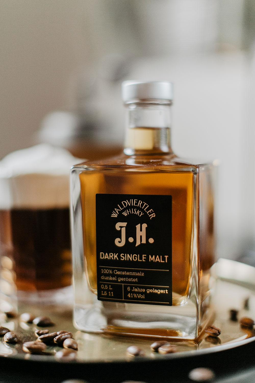 dark single malt haider whiskey